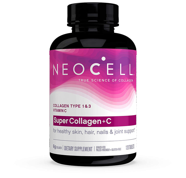 Neocell Super Collagen + C Type 1 & 3 - Supports Hair, Skin, Nails, Joints, & Bones (120 Tablets)