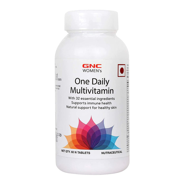 GNC Women's One Daily Multivitamin - Supports Immune Health and Healthy Skin - 60 Tablets - NutraC - Health & Nutrition Store