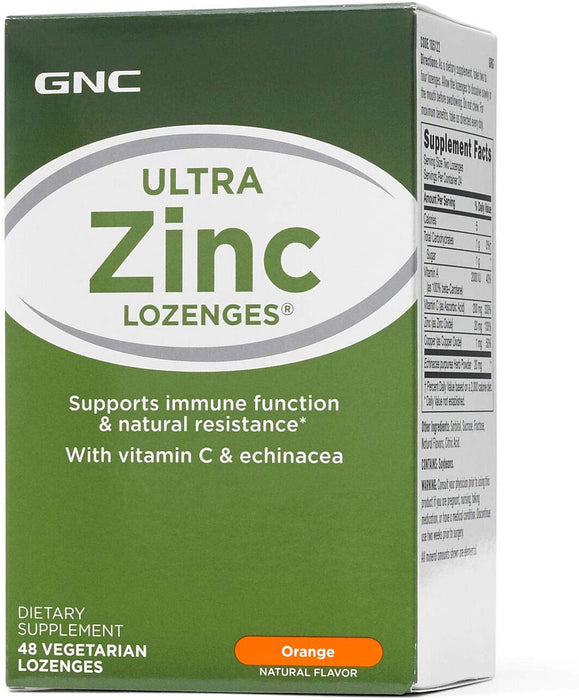 GNC Ultra Zinc Supports Immune Function & Natural Resistance (48 Lozenges)