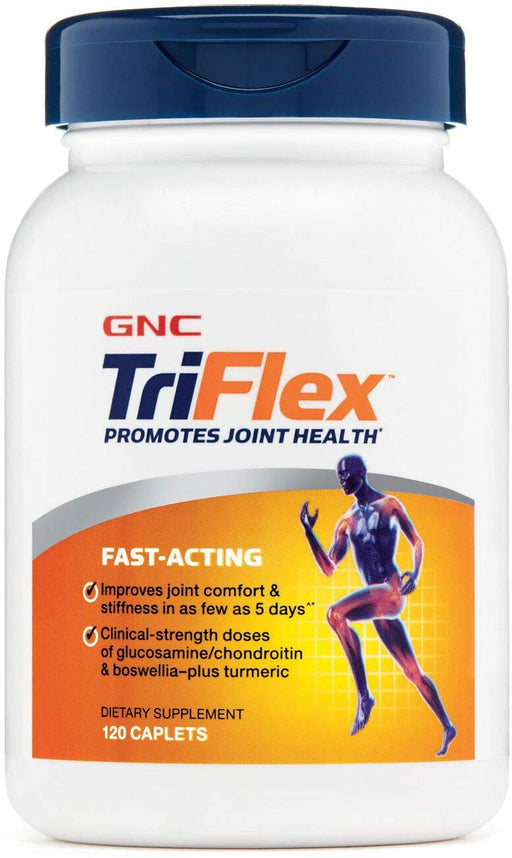 GNC Triflex Fast Acting - Promotes Joint Health (120 Caplets) - NutraC - Health & Nutrition Store