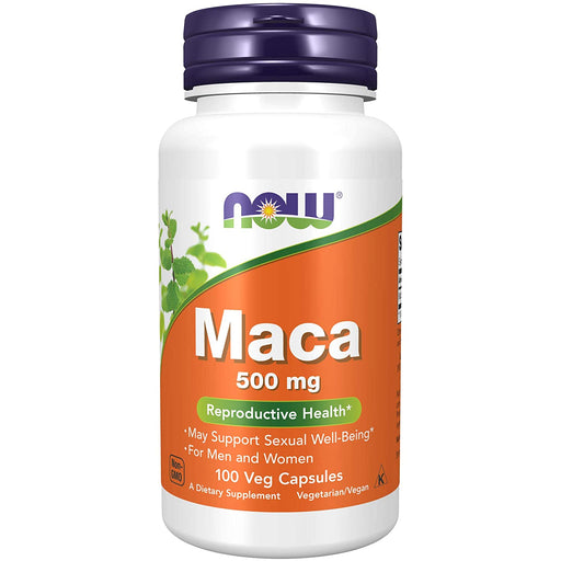 Now Foods Maca Veggie Capsules 500mg - 100 Capsules - NutraC - Health & Nutrition Store