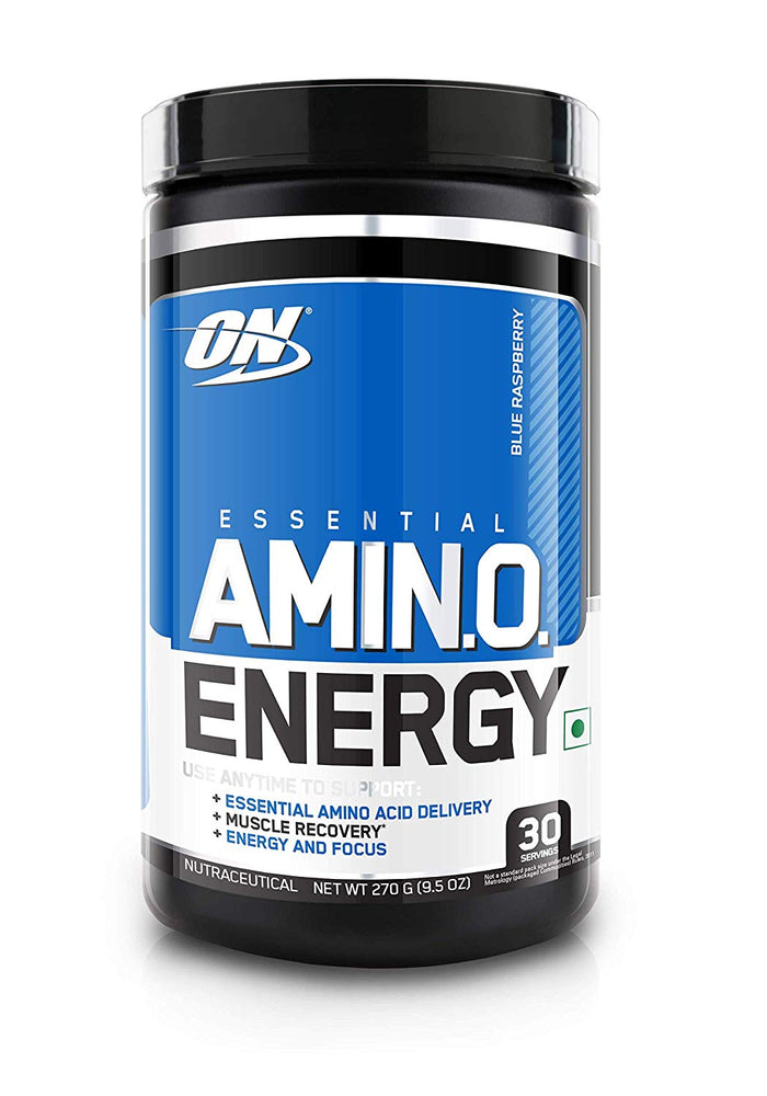 Optimum Nutrition (ON) Amino Energy Drink - 30 Servings (Blue Raspberry) - NutraC - Health & Nutrition Store