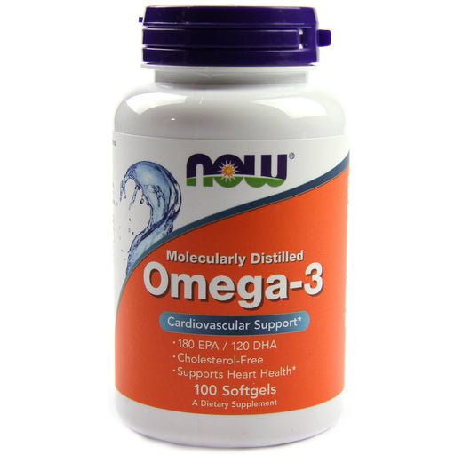 Now Foods Omega-3 - Pack of 100 Softgels - NutraC - Health & Nutrition Store