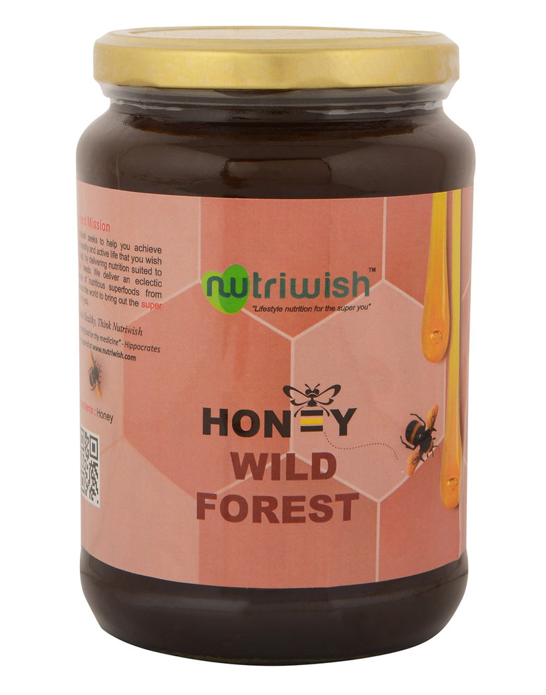 Nutriwish Wild Forest Honey - 100 % Pure Wild Forest Honey 1kg - NutraC - Health & Nutrition Store