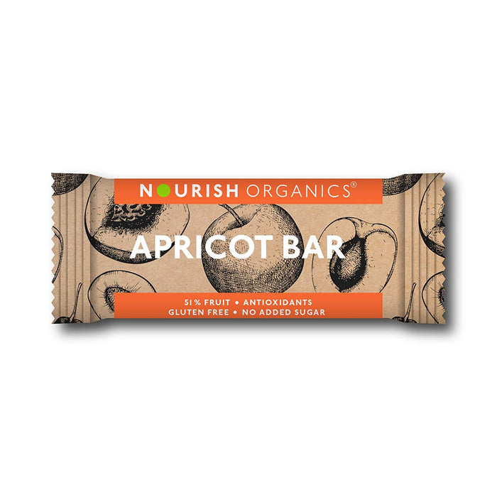 Nourish Organics Apricot Bar - Pack of 6 (30g x 6) - NutraC - Health & Nutrition Store