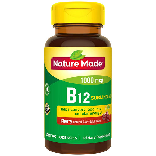 Nature Made Vitamin B-12 Sublingual Cherry 1000 Mcg - 50 Lozenges