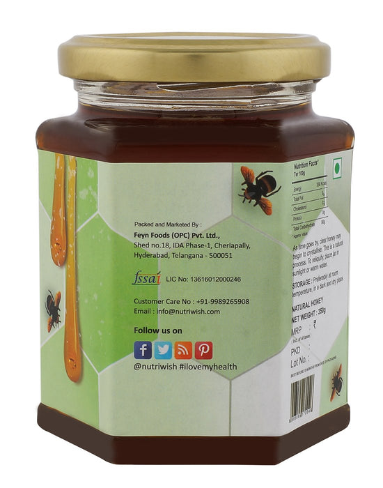 NUTRIWISH 100% Pure Honey - Infused With Eucalyptus 350g - NutraC - Health & Nutrition Store