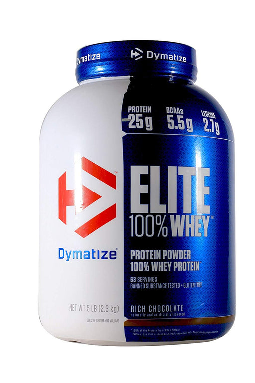 Dymatize Elite 100% Whey Protein Supplement Powder, Pre and Post Workout Protein Powder, 5 lbs, 2.26 kg