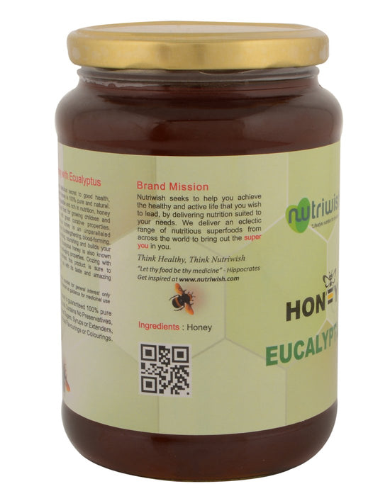 Nutriwish Eucalyptus Honey - 100 % Pure Eucalyptus Honey 1kg - NutraC - Health & Nutrition Store