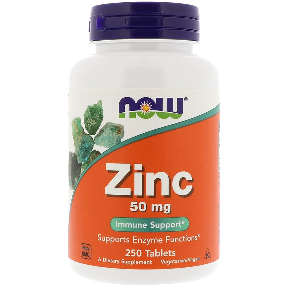 Now Foods Zinc Tablets 50mg - 250 Tablets