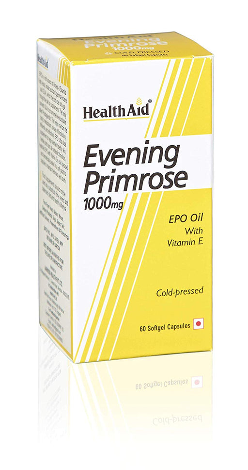 HealthAid Evening Primrose Oil 1000mg With Vitamin E -60 Capsules