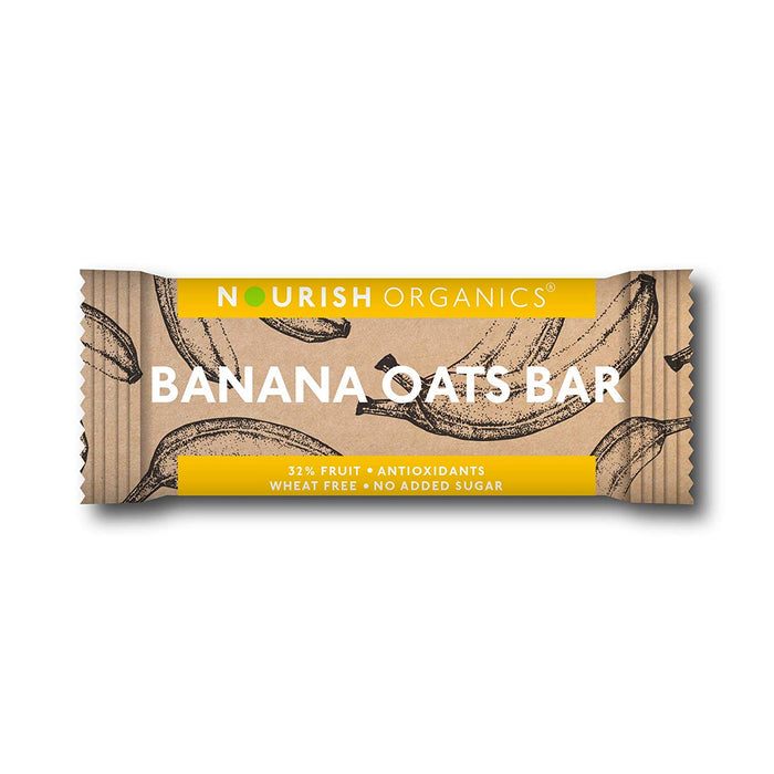 Nourish Organics Banana Oats Bar - Pack of 6 (30g x 6)