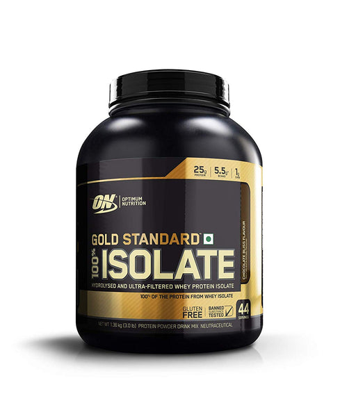 Optimum Nutrition (ON) Gold Standard 100% Isolate Whey Protein Powder - 3.0 lb, 44 servings (Chocolate Bliss) - NutraC - Health & Nutrition Store