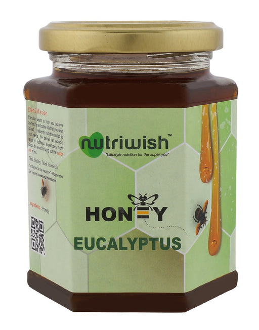 NUTRIWISH 100% Pure Honey - Infused With Eucalyptus 350g