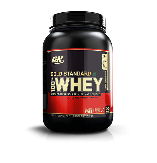 Optimum Nutrition (ON) Gold Standard 100% Whey Protein Powder - 2 lbs, 907 g (Extreme Milk Chocolate) - NutraC - Health & Nutrition Store