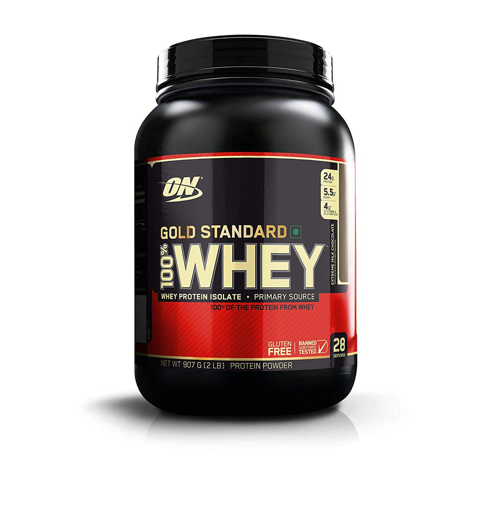 Optimum Nutrition (ON) Gold Standard 100% Whey Protein Powder - 2 lbs, 907 g (Extreme Milk Chocolate)