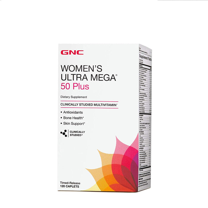 GNC Women's Ultra Mega 50 Plus For Skin & Bone Support (120 Caplets)