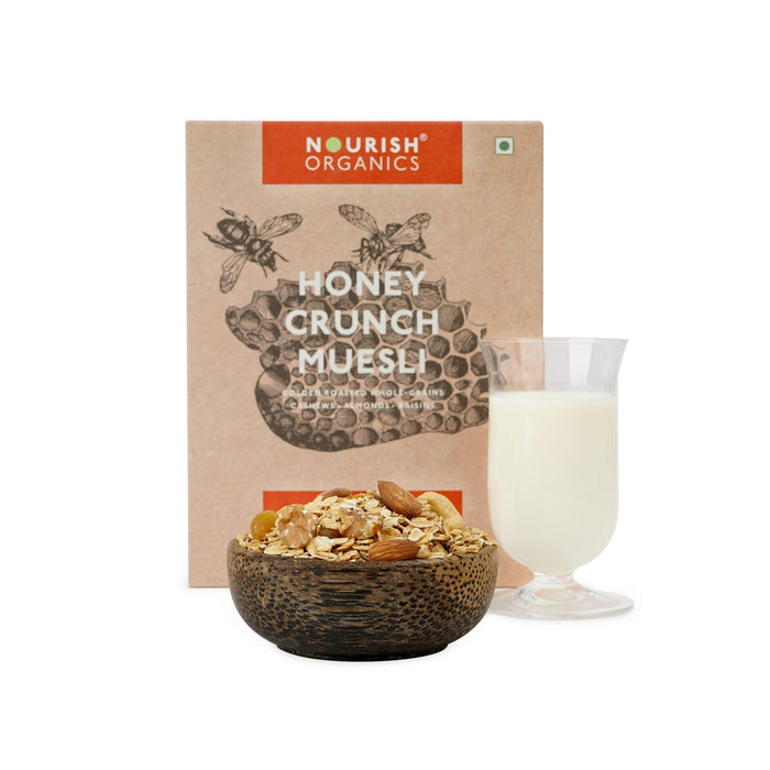 Nourish Organics - Honey Crunch Muesli - NutraC - Health & Nutrition Store