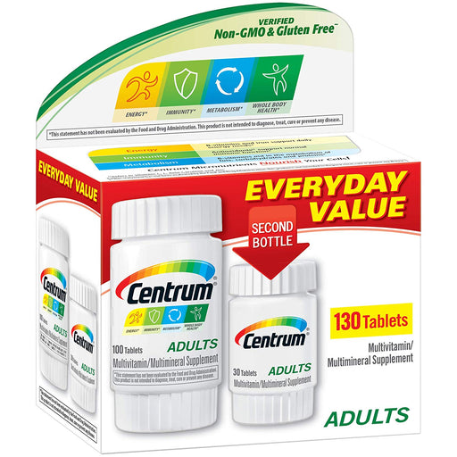 Centrum Adults Multivitamins - 130 Tablets