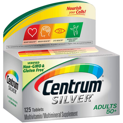 Centrum Silver Adults Multivitamins 50+ - 125 Tablets