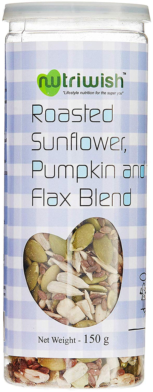 NUTRIWISH Roasted Seeds - Sunflower, Pumpkin & Flax Seed Blend - NutraC - Health & Nutrition Store