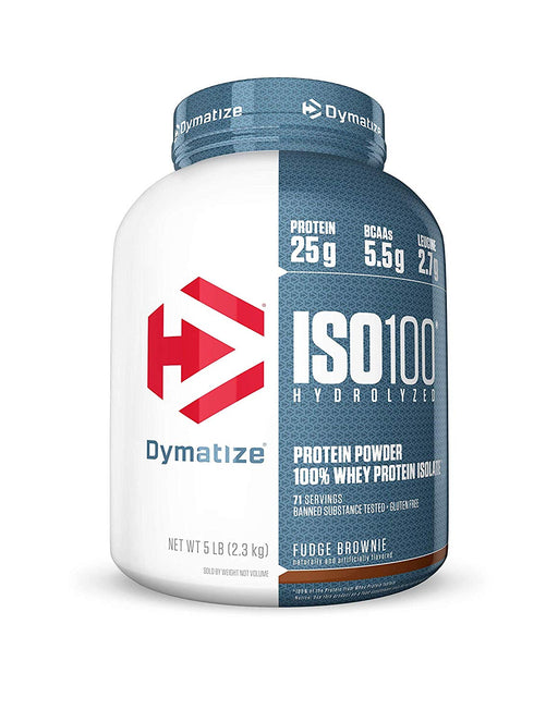 Dymatize Nutrition ISO 100 5 lbs Whey Protein Powder with Hydrolyzed 100% Whey Protein Isolate, Gluten Free, Fast Digestion, 2.26 Kg (5Lb)