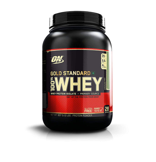 Optimum Nutrition (ON) Gold Standard 100% Whey Protein Powder - 2 lbs, 907 g (Chocolate Mint)
