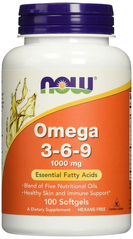 Now Foods Omega 3-6-9 1000 mg, 100 softgels - NutraC - Health & Nutrition Store
