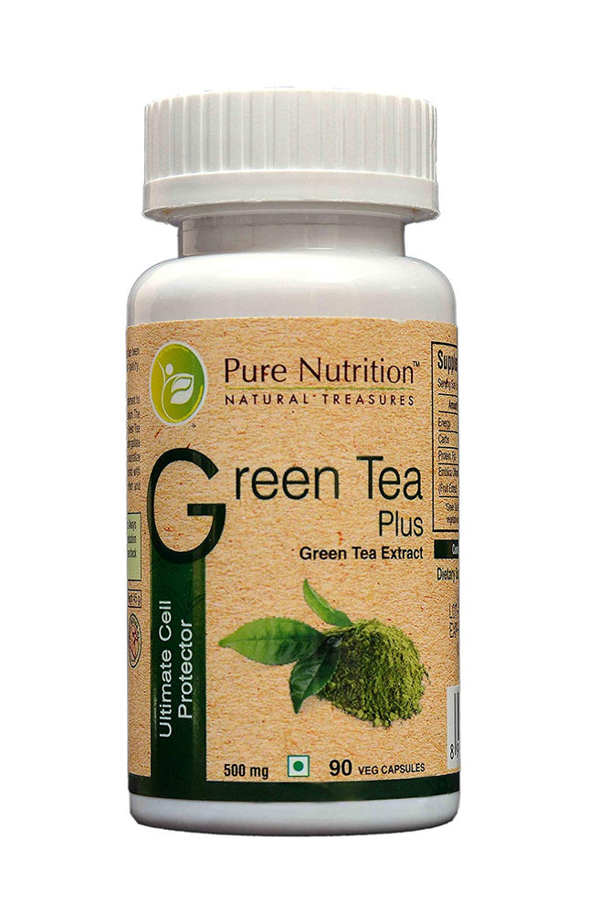 Pure Nutrition Green Tea Plus (Ultimate Cell Protector) Supports a strong Immune system - 90 Caps