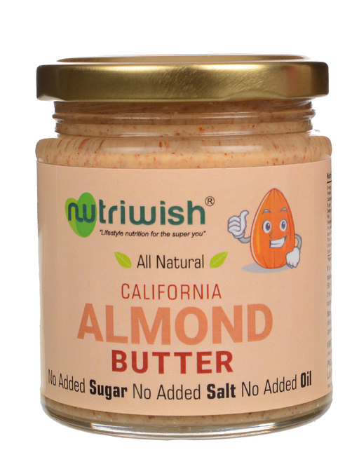Nutriwish Almond Butter 200g - NutraC - Health & Nutrition Store
