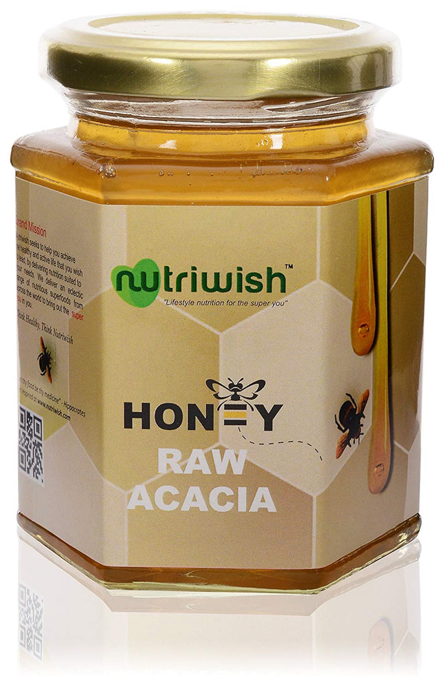NUTRIWISH 100% Pure Organic Honey - Acacia 350g - NutraC - Health & Nutrition Store