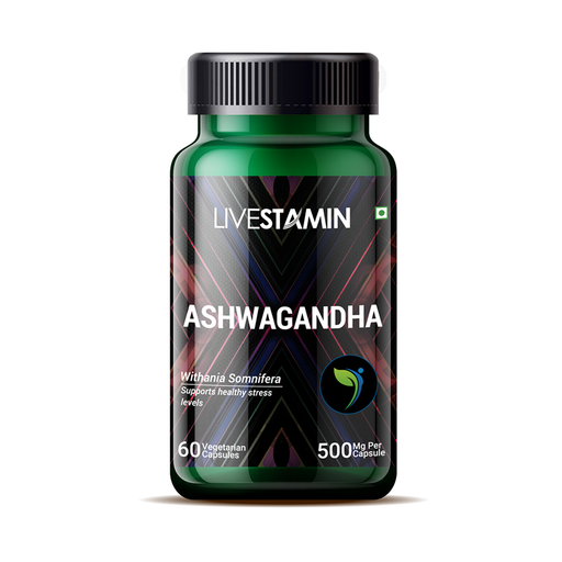 Livestamin Ashwagandha 60 Capsules - NutraC - Health & Nutrition Store