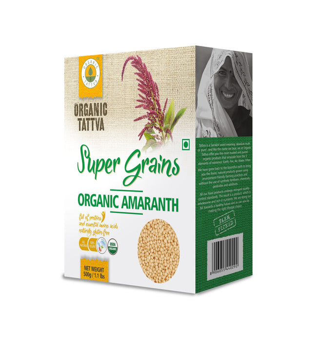 Organic Amaranth Seeds - NutraC - Health & Nutrition Store