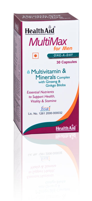HealthAid MultiMax for Men-30 Capsules - NutraC - Health & Nutrition Store