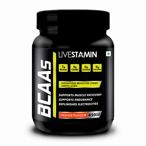 Livestamin BCAA Orange Flavour 400 Grams - NutraC - Health & Nutrition Store