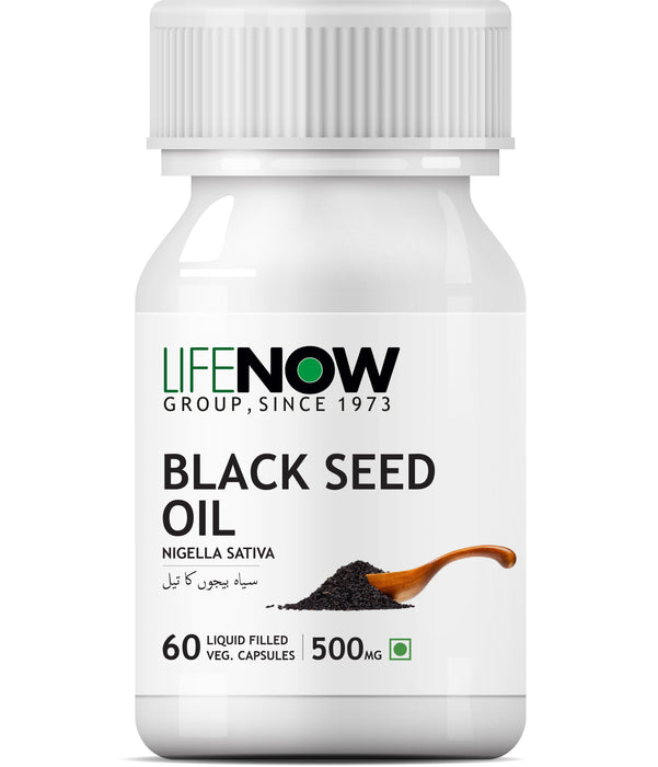 Lifenow Black Seed Oil, Extra Virgin Cold Pressed, 500 mg - 60 Vegetarian Capsules - NutraC - Health & Nutrition Store