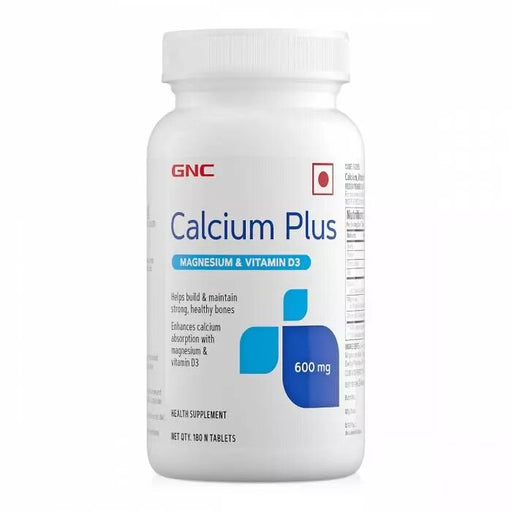 GNC Calcium Plus 600 mg with Magnesium and Vitamin D3 - 180 Tablets