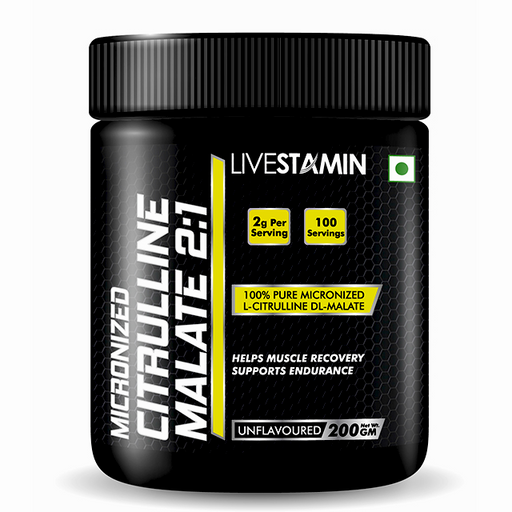 Livestamin Citrulline Malate Powder 2:1 200g - NutraC - Health & Nutrition Store