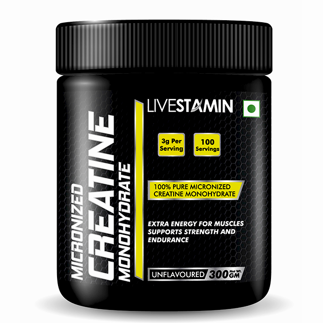 Livestamin Creatine Monohydrate 300g - NutraC - Health & Nutrition Store