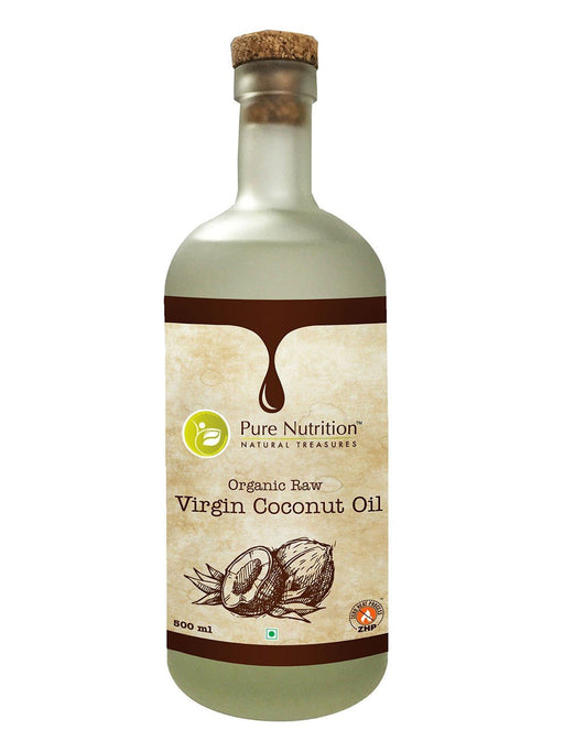 Pure Nutrition Organic Raw Virgin Coconut Oil (500 ml) - NutraC - Health & Nutrition Store