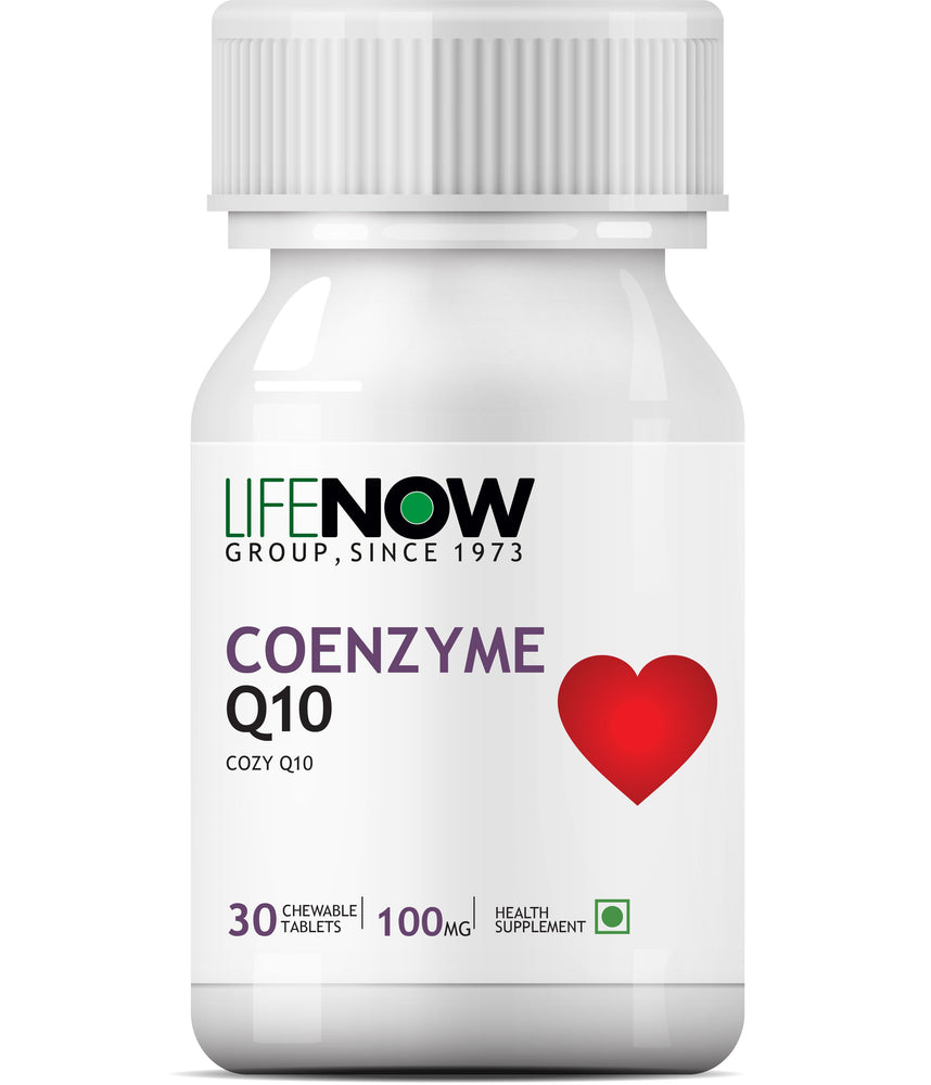 Lifenow Coenzyme Q10 - 100 Mg (Ubiquinone) 30 Chewable Tablets