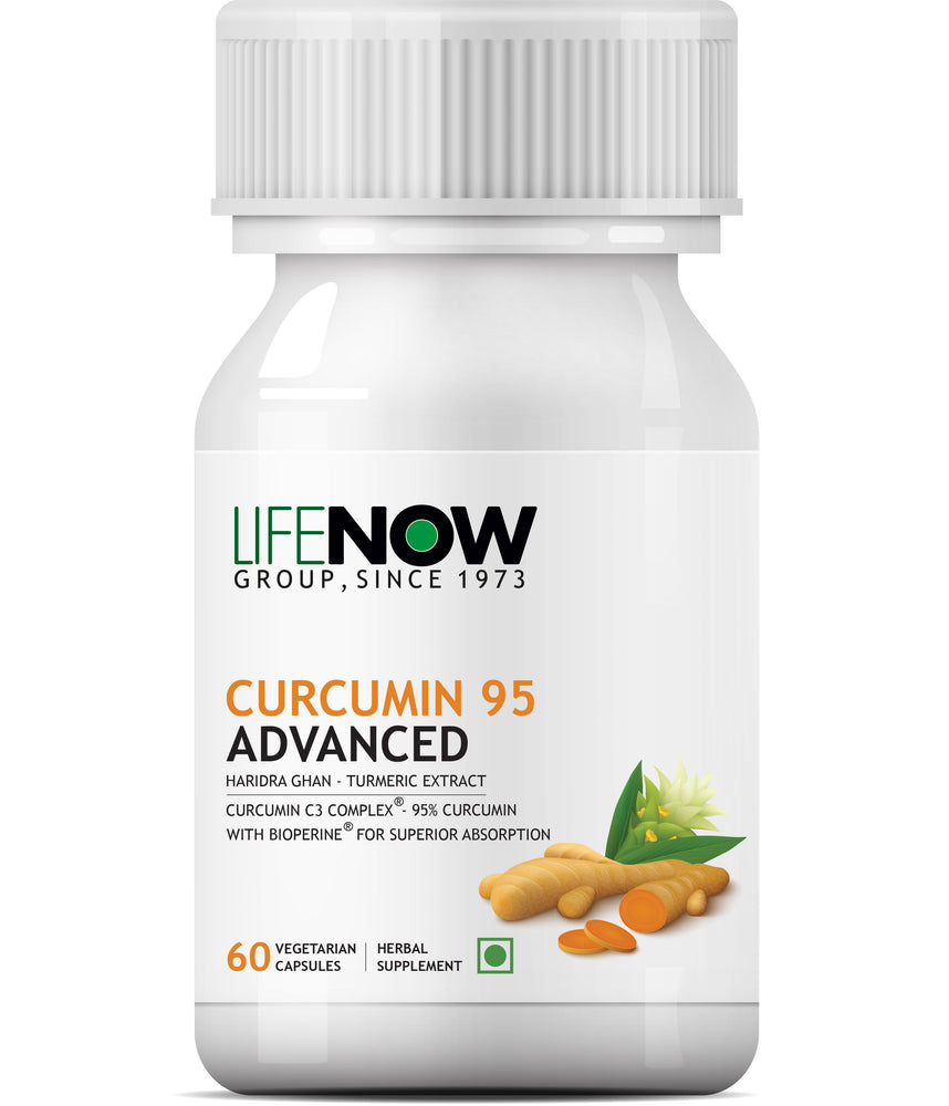 Lifenow Turmeric Extract, Curcumin C3 Complex (95% Curcuminoids) with Piperine (Bioperine) Supplement 500 mg – 60 Vegetarian Capsules - NutraC - Health & Nutrition Store