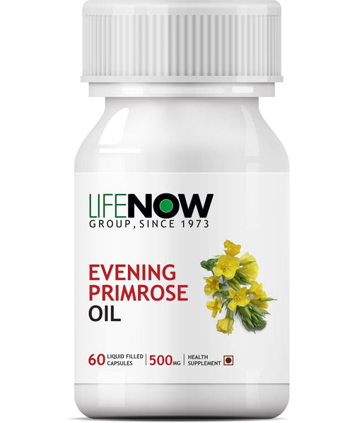 Lifenow Evening Primrose Oil Extra Virgin Cold Pressed, 500 mg - 60 Capsules