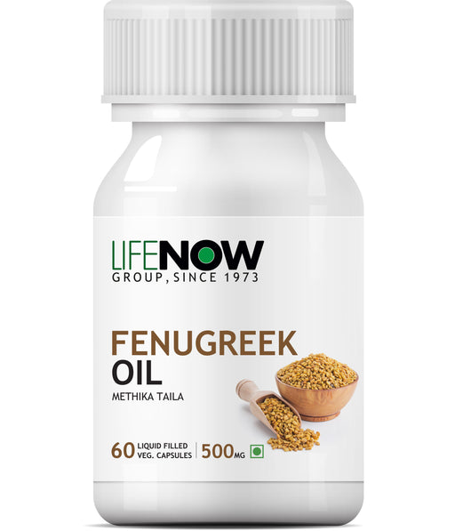 Lifenow Fenugreek Seed Oil (60 Vegetarian Capsules) Sugar Balance and Womens Health- 60 Liquid Filled Capsules