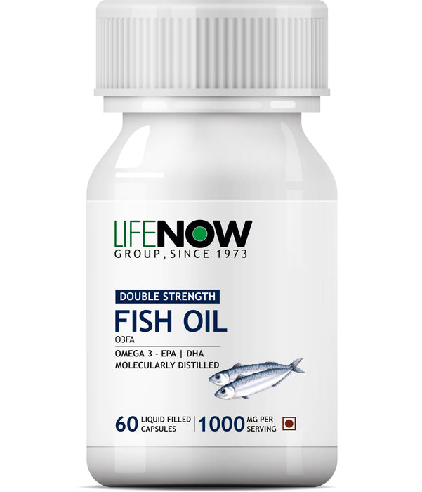 Lifenow Fish Oil Omega 3 Fatty Acids With Epa 360 Mg Dha 240 Mg Supplement 1000 Mg (Per Serving) - 60 Liquid Capsules
