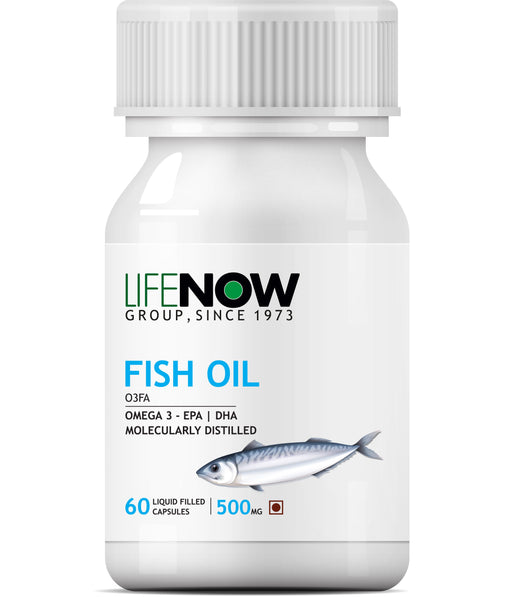 Lifenow Fish Oil for Men and Women 500mg - 60 Capsules - NutraC - Health & Nutrition Store