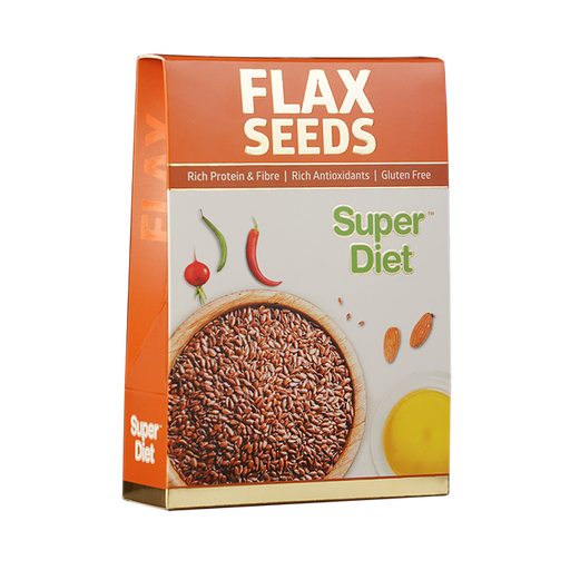Super Diet Flax Seeds 250 Grms - NutraC - Health & Nutrition Store