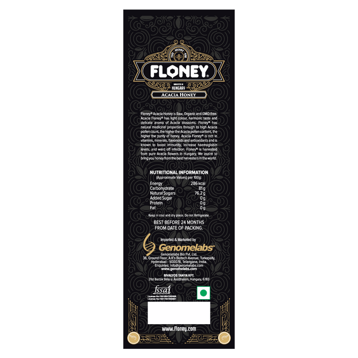 Floney Acacia Honey 250gm - NutraC - Health & Nutrition Store