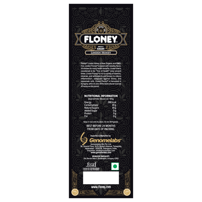 Floney Linden Honey 100Gm - NutraC - Health & Nutrition Store