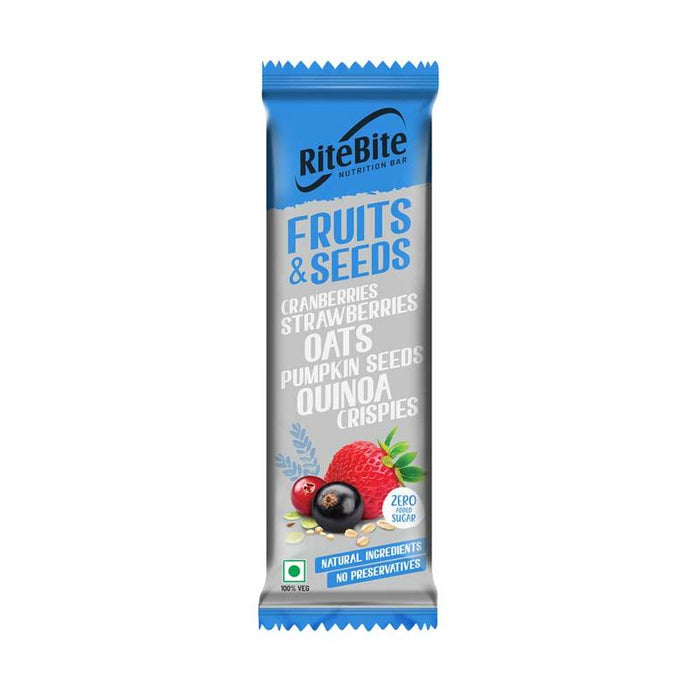 RiteBite Fruit & Seeds Bar 420g - Pack of 12 - NutraC - Health & Nutrition Store